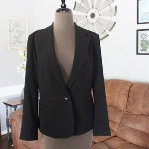 Talbots Black One Button Blazer Size 6 Petite
